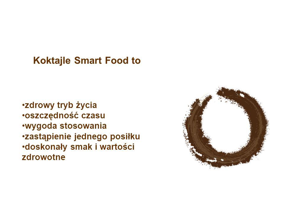 zdrowy tryb życia oszczędność czasu wygoda stosowania zastąpienie jednego posiłku doskonały smak i wartości zdrowotne Koktajle Smart Food to