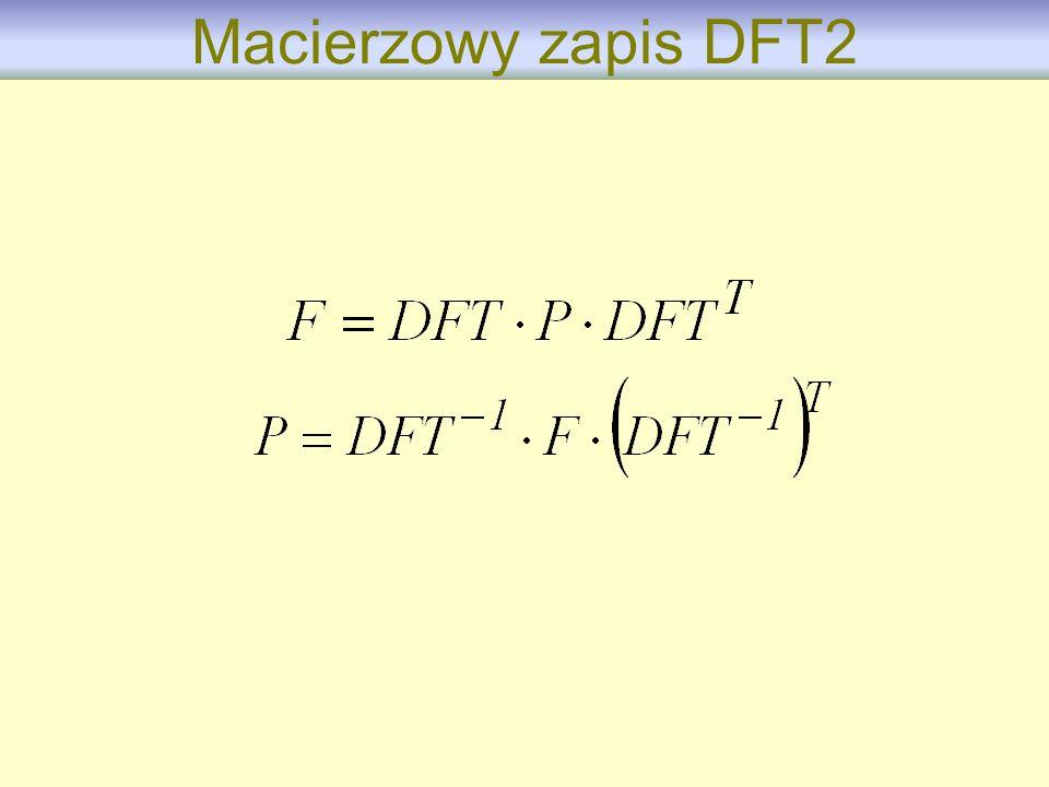 Macierzowy zapis DFT2