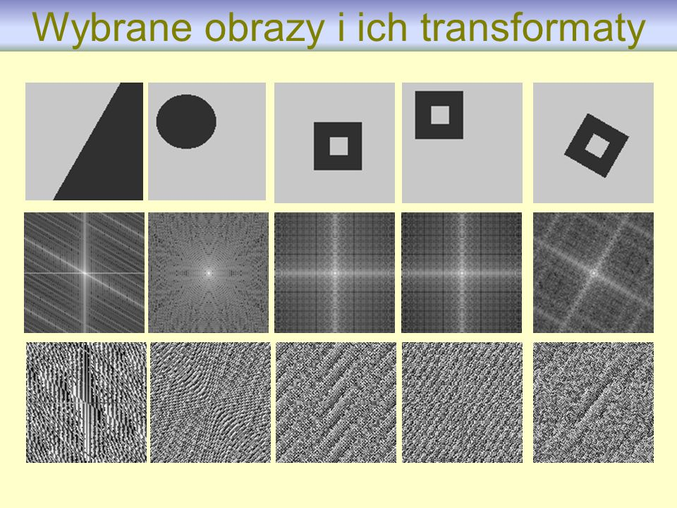 Wybrane obrazy i ich transformaty