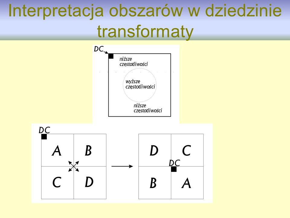 Interpretacja obszarów w dziedzinie transformaty