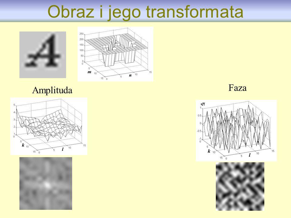 Amplituda Faza Obraz i jego transformata