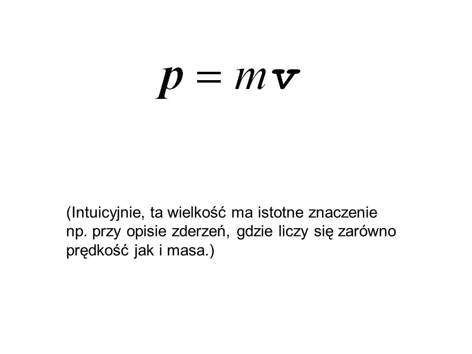 (Intuicyjnie, ta wielkość ma istotne znaczenie np. przy opisie zderzeń, gdzie liczy się zarówno prędkość jak i masa.)