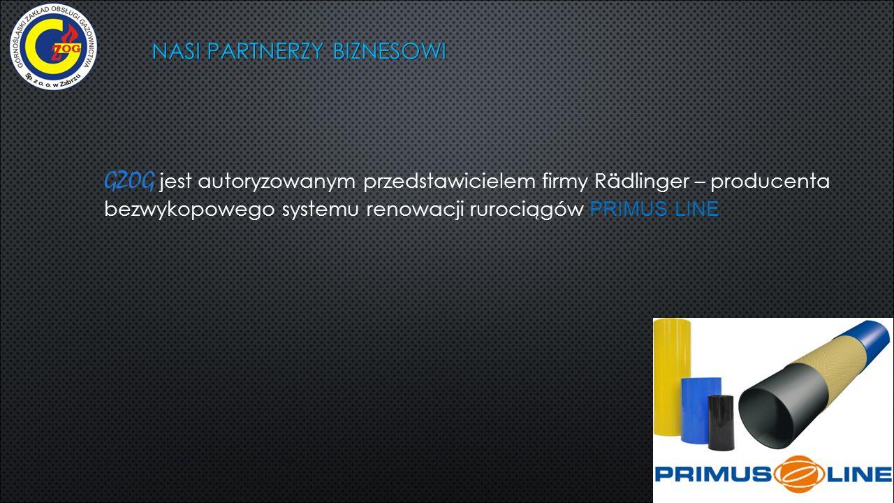 NASI PARTNERZY BIZNESOWI GZOG jest autoryzowanym przedstawicielem firmy Rädlinger – producenta bezwykopowego systemu renowacji rurociągów PRIMUS LINE