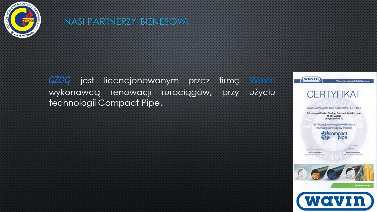NASI PARTNERZY BIZNESOWI GZOG jest licencjonowanym przez firmę Wavin wykonawcą renowacji rurociągów, przy użyciu technologii Compact Pipe.