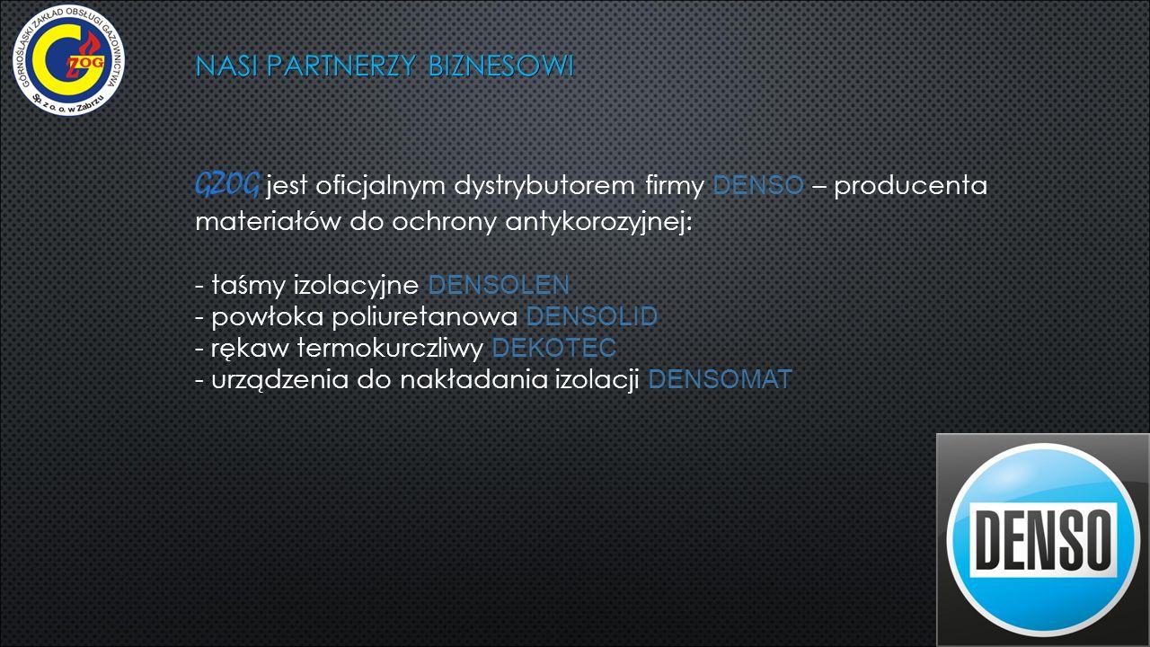 NASI PARTNERZY BIZNESOWI GZOG jest oficjalnym dystrybutorem firmy DENSO – producenta materiałów do ochrony antykorozyjnej: - taśmy izolacyjne DENSOLEN