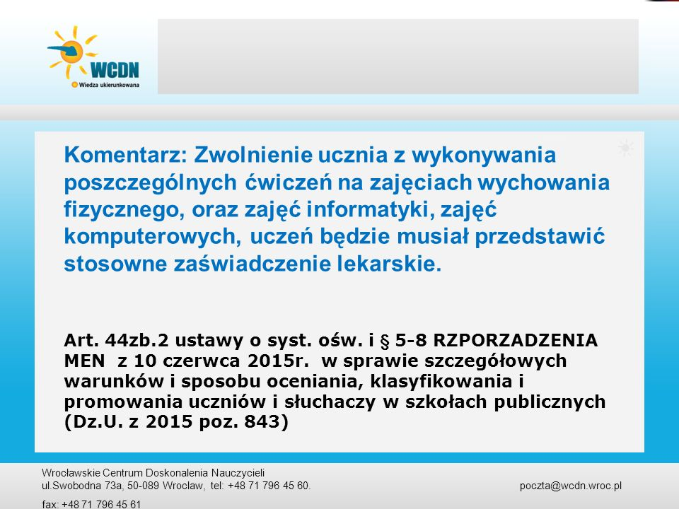 Art.44p projekt edukacyjny- gimnazjum Art. 44p. 1.