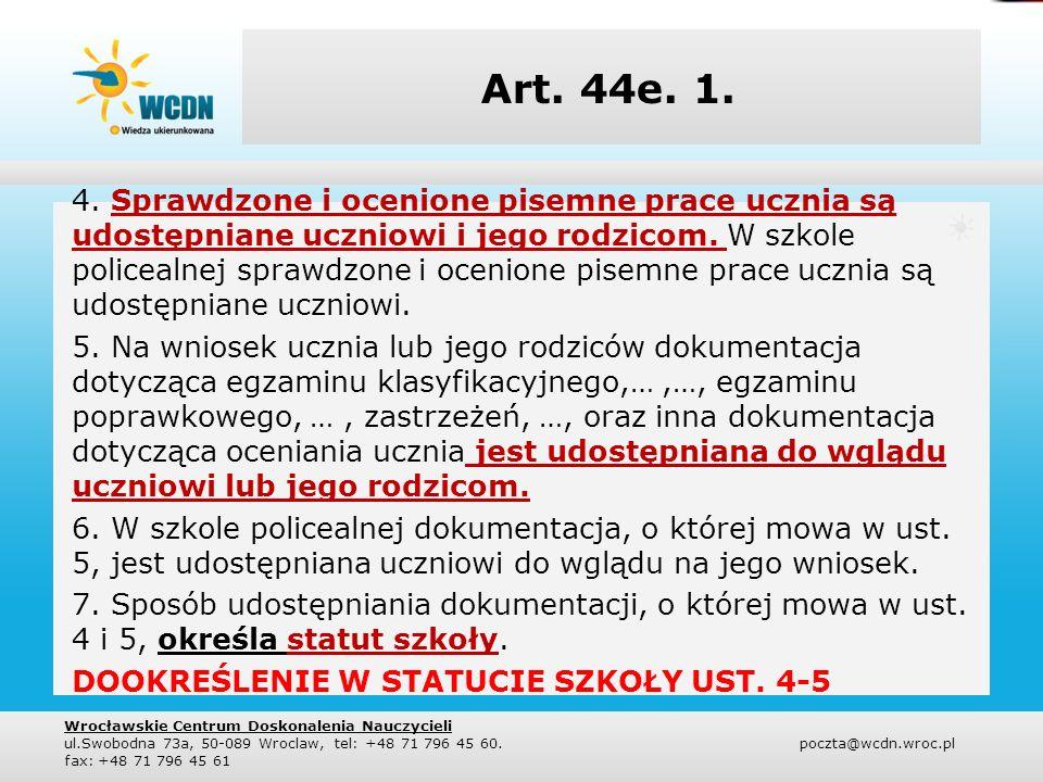 Art.44f. KLASYFIKOWANIE 1.
