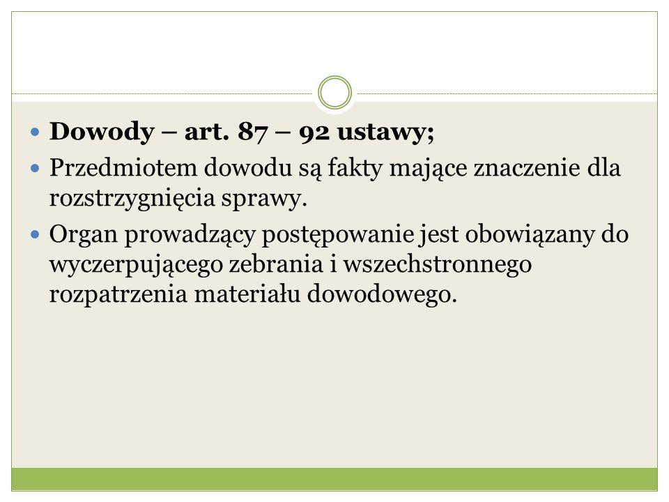 Dowody – art.