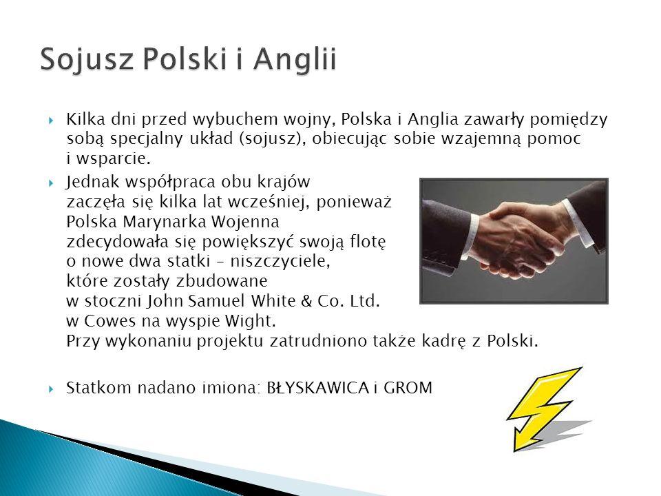  Kilka dni przed wybuchem wojny, Polska i Anglia zawarły pomiędzy sobą specjalny układ (sojusz), obiecując sobie wzajemną pomoc i wsparcie.
