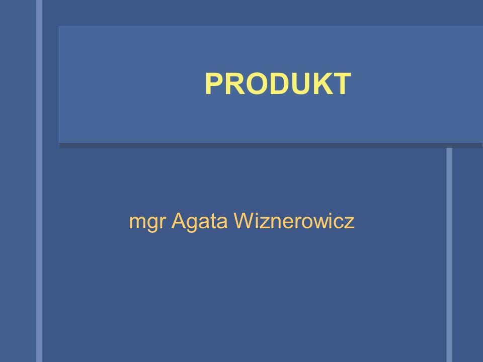 PRODUKT mgr Agata Wiznerowicz