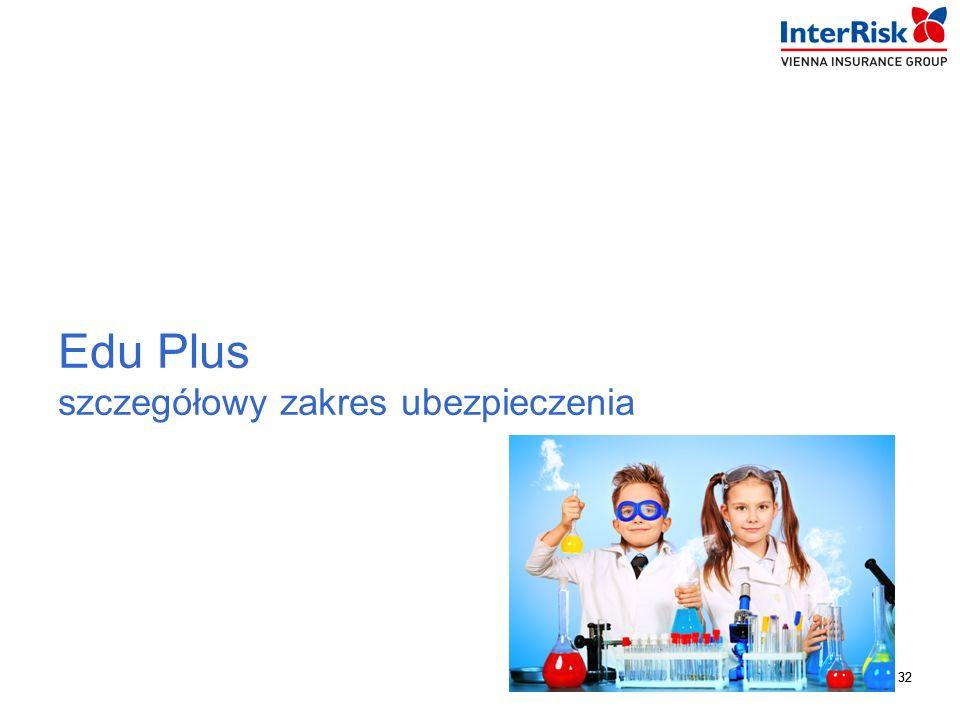 32 InterRisk TU S.A. Vienna Insurance Group 32 Edu Plus szczegółowy zakres ubezpieczenia