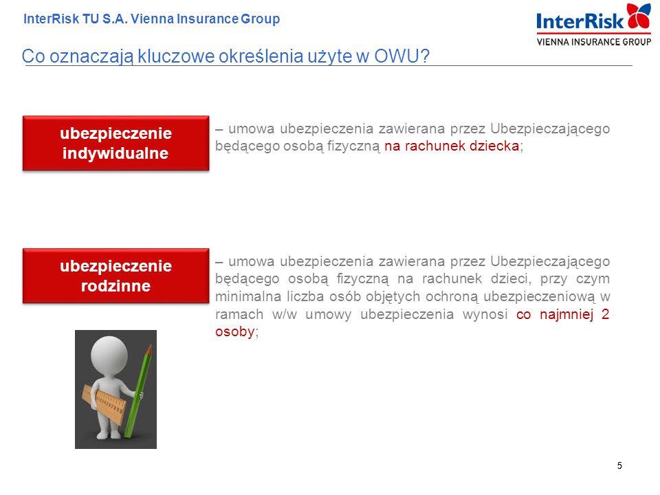5 InterRisk TU S.A. Vienna Insurance Group 5 – umowa ubezpieczenia zawierana przez Ubezpieczającego będącego osobą fizyczną na rachunek dziecka; ubezp