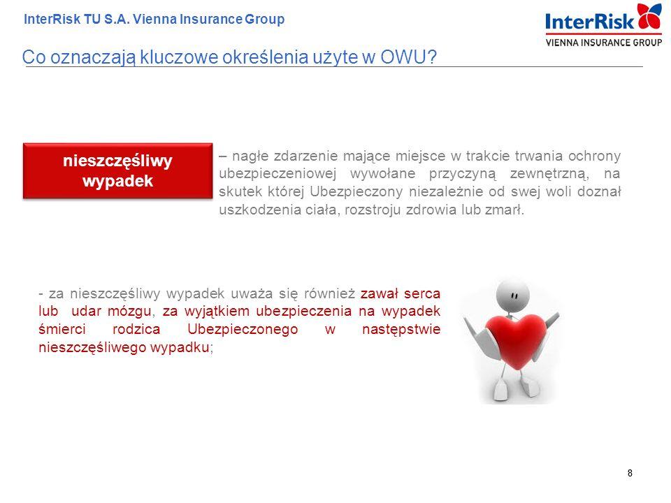 8 InterRisk TU S.A. Vienna Insurance Group 8 – nagłe zdarzenie mające miejsce w trakcie trwania ochrony ubezpieczeniowej wywołane przyczyną zewnętrzną