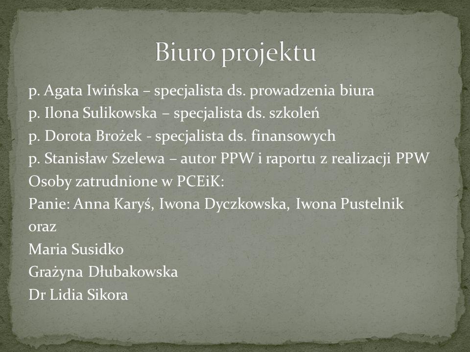 p. Agata Iwińska – specjalista ds. prowadzenia biura p.