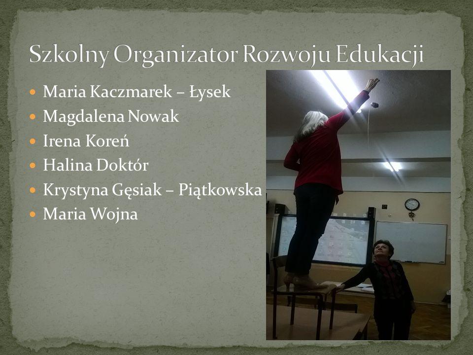Maria Kaczmarek – Łysek Magdalena Nowak Irena Koreń Halina Doktór Krystyna Gęsiak – Piątkowska Maria Wojna