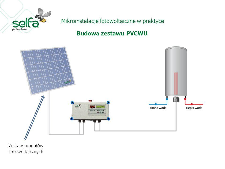 Mikroinstalacje fotowoltaiczne w praktyce Budowa zestawu PVCWU Zestaw modułów fotowoltaicznych