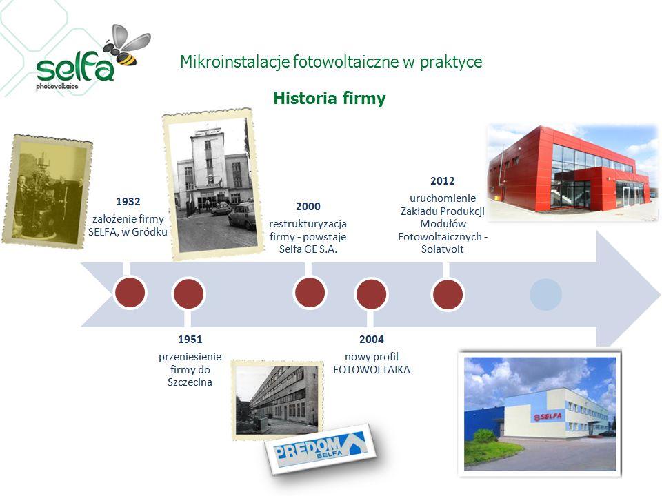 Mikroinstalacje fotowoltaiczne w praktyce Historia firmy