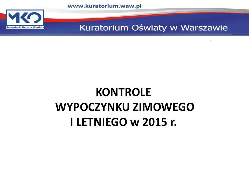 KONTROLE WYPOCZYNKU ZIMOWEGO I LETNIEGO w 2015 r.