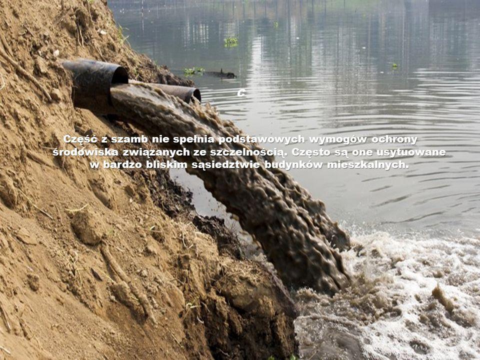 C Część z szamb nie spełnia podstawowych wymogów ochrony środowiska związanych ze szczelnością. Często są one usytuowane w bardzo bliskim sąsiedztwie
