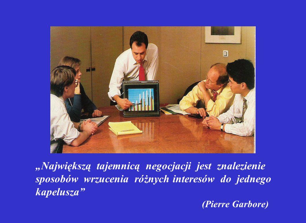 """""""Największą tajemnicą negocjacji jest znalezienie sposobów wrzucenia różnych interesów do jednego kapelusza"""" (Pierre Garbore)"""