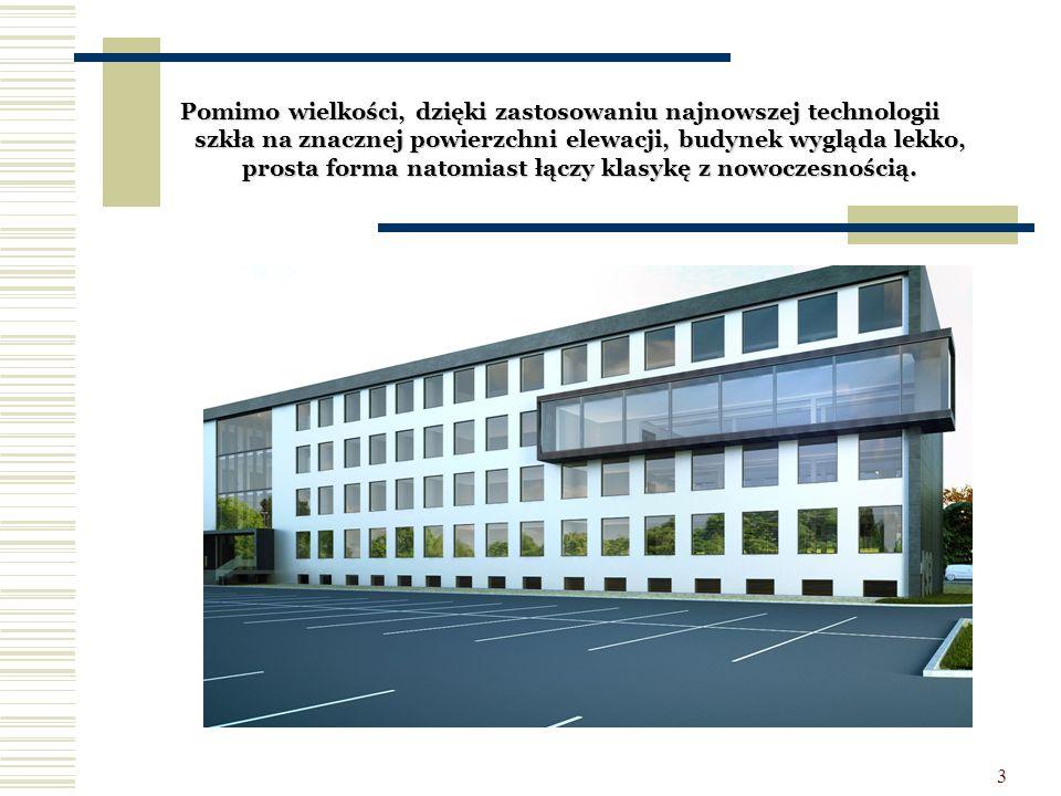 3 Pomimo wielkości, dzięki zastosowaniu najnowszej technologii szkła na znacznej powierzchni elewacji, budynek wygląda lekko, prosta forma natomiast ł