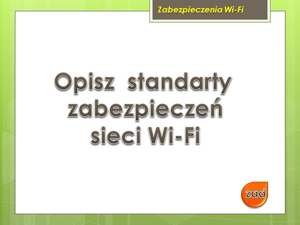 Zabezpieczenia Wi-Fi