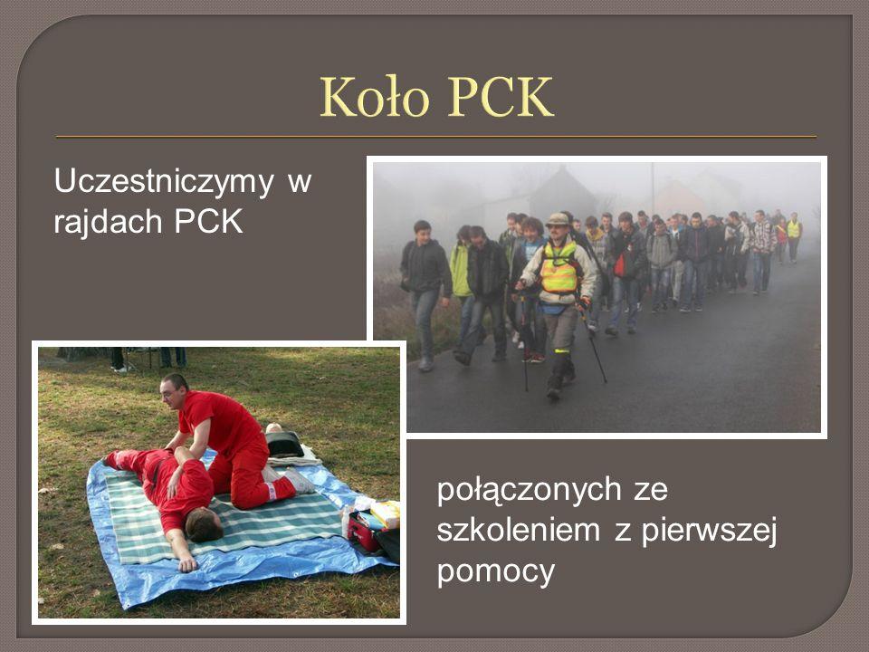 Koło PCK Uczestniczymy w rajdach PCK połączonych ze szkoleniem z pierwszej pomocy