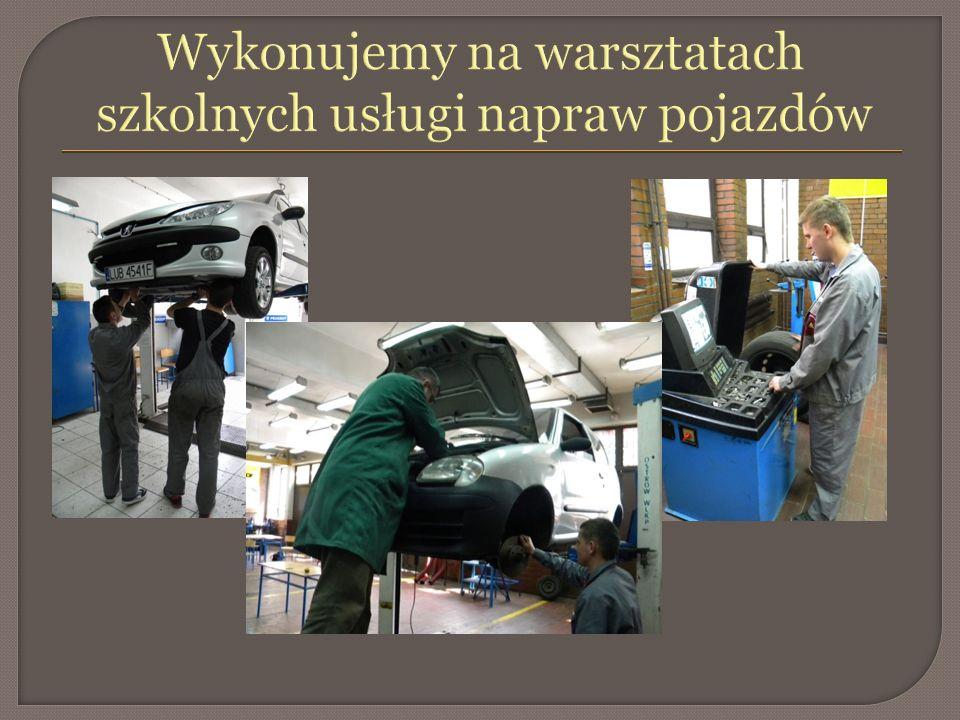 Wykonujemy na warsztatach szkolnych usługi napraw pojazdów