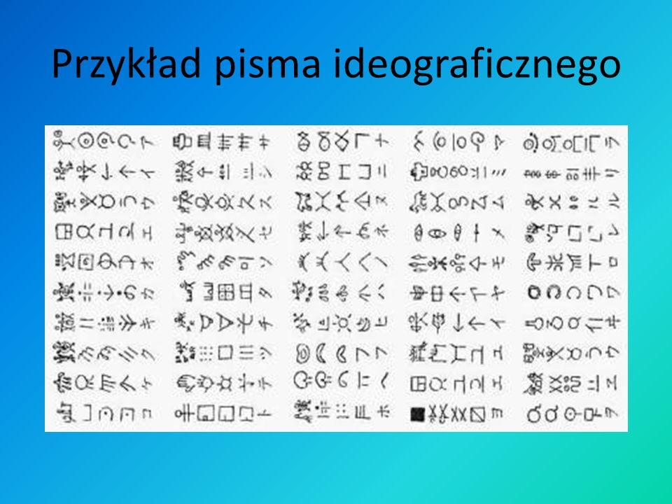 Przykład pisma ideograficznego