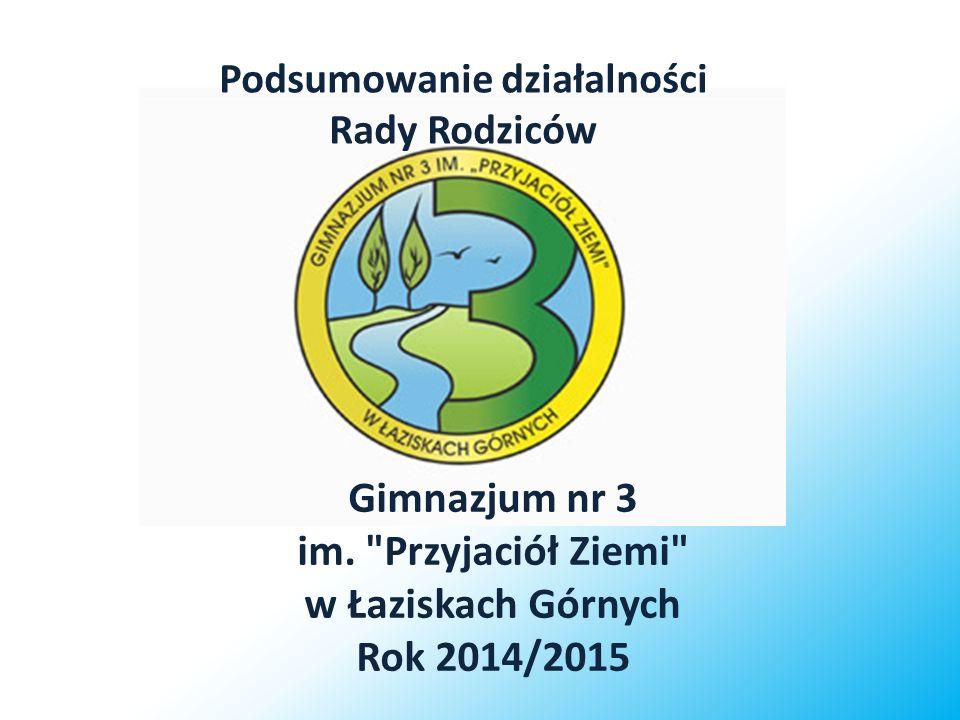 Podsumowanie działalności Rady Rodziców Gimnazjum nr 3 im.