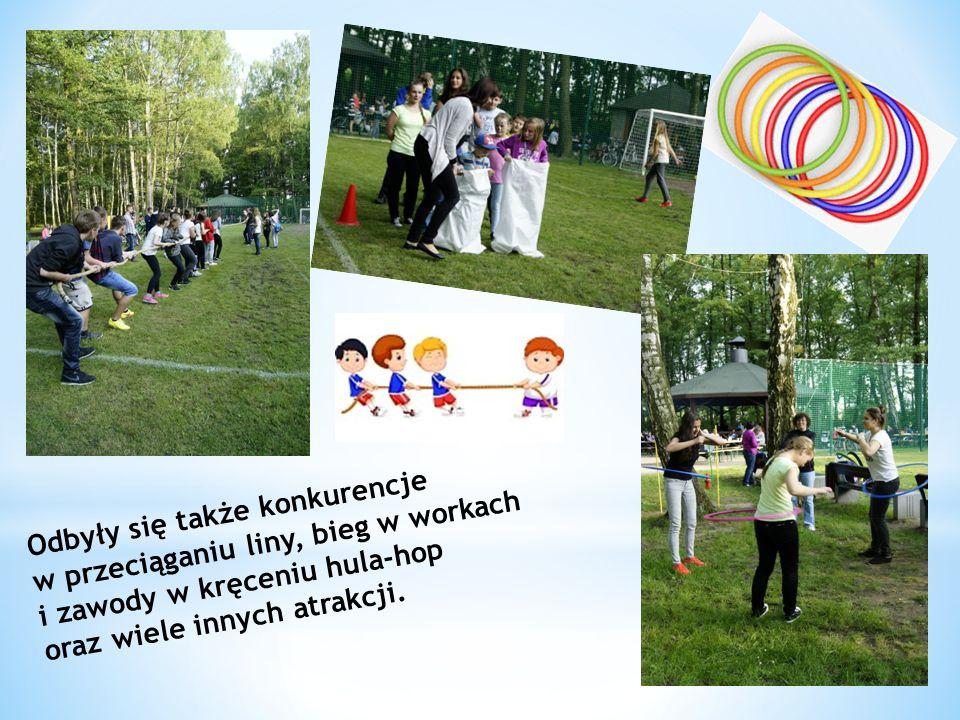 Odbyły się także konkurencje w przeciąganiu liny, bieg w workach i zawody w kręceniu hula-hop oraz wiele innych atrakcji.