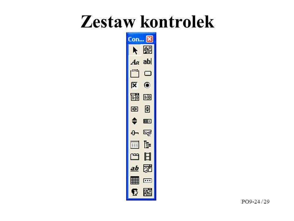 Zestaw kontrolek PO9-24 / 29