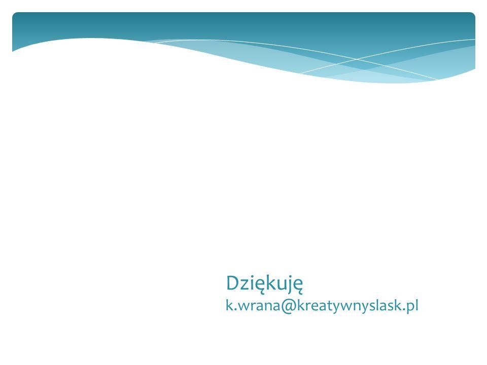 Dziękuję k.wrana@kreatywnyslask.pl