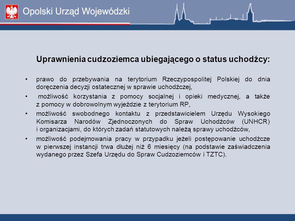 Uprawnienia cudzoziemca ubiegającego o status uchodźcy: prawo do przebywania na terytorium Rzeczypospolitej Polskiej do dnia doręczenia decyzji ostate