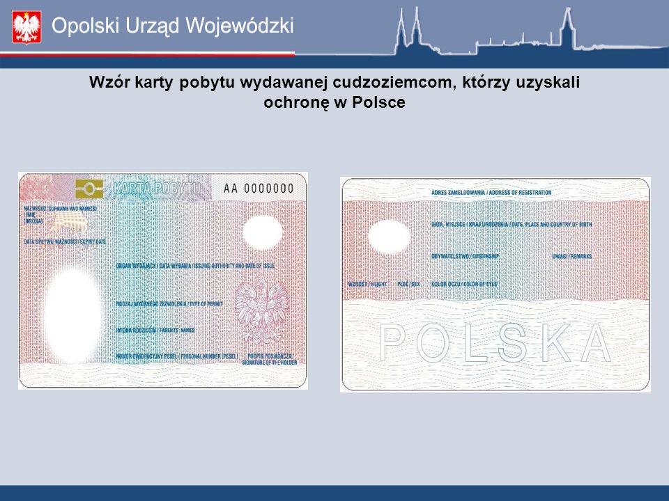 Wzór karty pobytu wydawanej cudzoziemcom, którzy uzyskali ochronę w Polsce