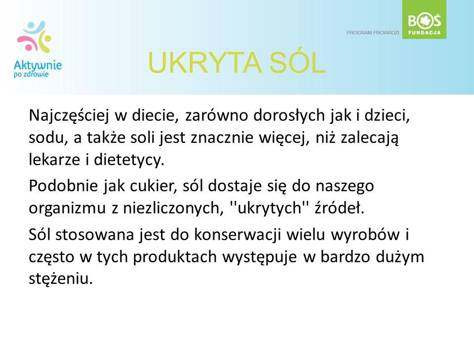 SŁONE SKUTKI Nadmierna konsumpcja soli prowadzi do przewlekłego zatrucia organizmu, czego skutkiem są np.