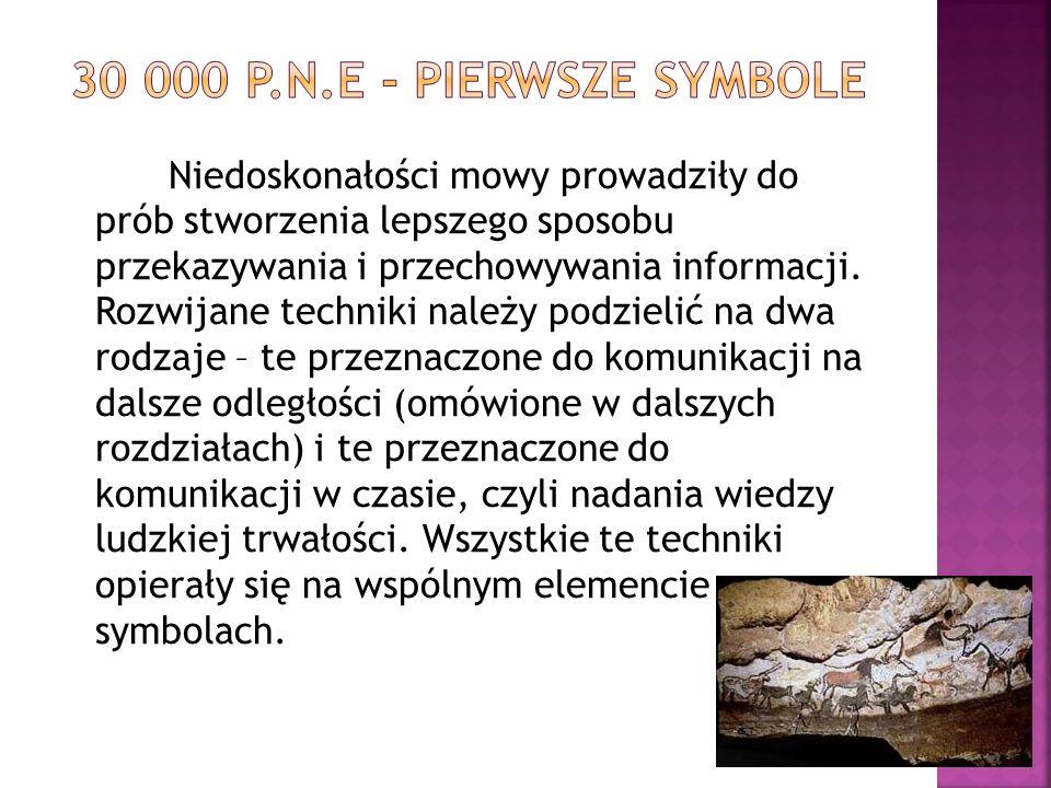  Symbole były prekursorem kolejnego wielkiego wynalazku – pisma.