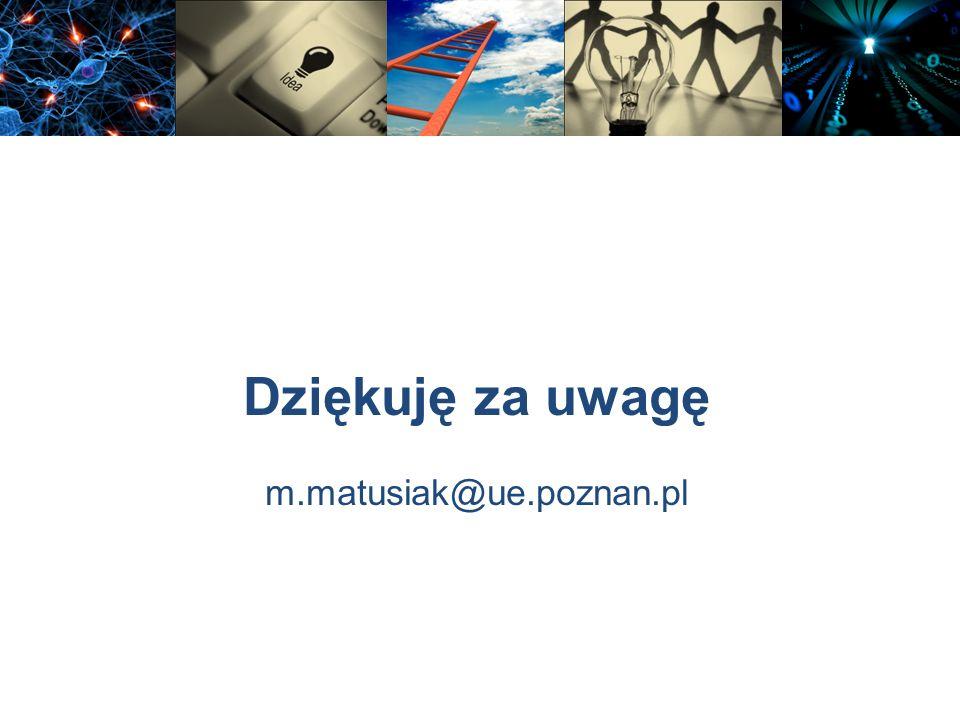 Dziękuję za uwagę m.matusiak@ue.poznan.pl