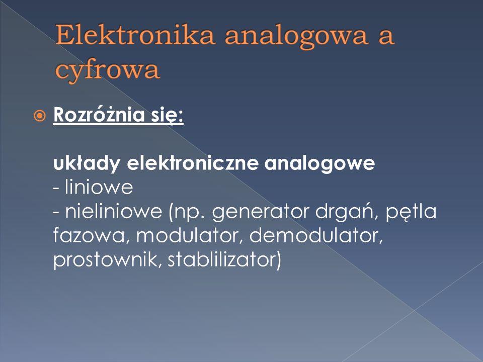 Współcześnie większość urządzeń elektronicznych projektuje się z użyciem elementów półprzewodnikowych, za pomocą których można sterować przepływem elektronów podobnie jak w lampach elektronowych a układy elektroniczne implementowane są często jako układy scalone w tym układy programowalne i układy specjalizowane.