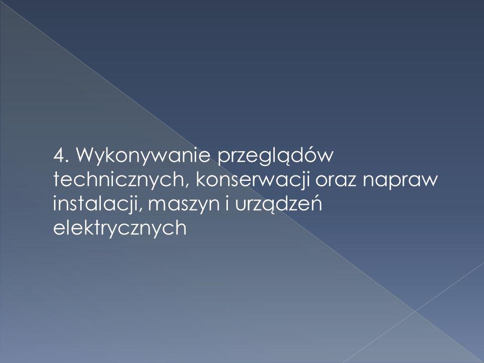 3. Instalowanie i uruchamianie maszyn i urządzeń elektrycznych oraz regulowania parametrów ich pracy
