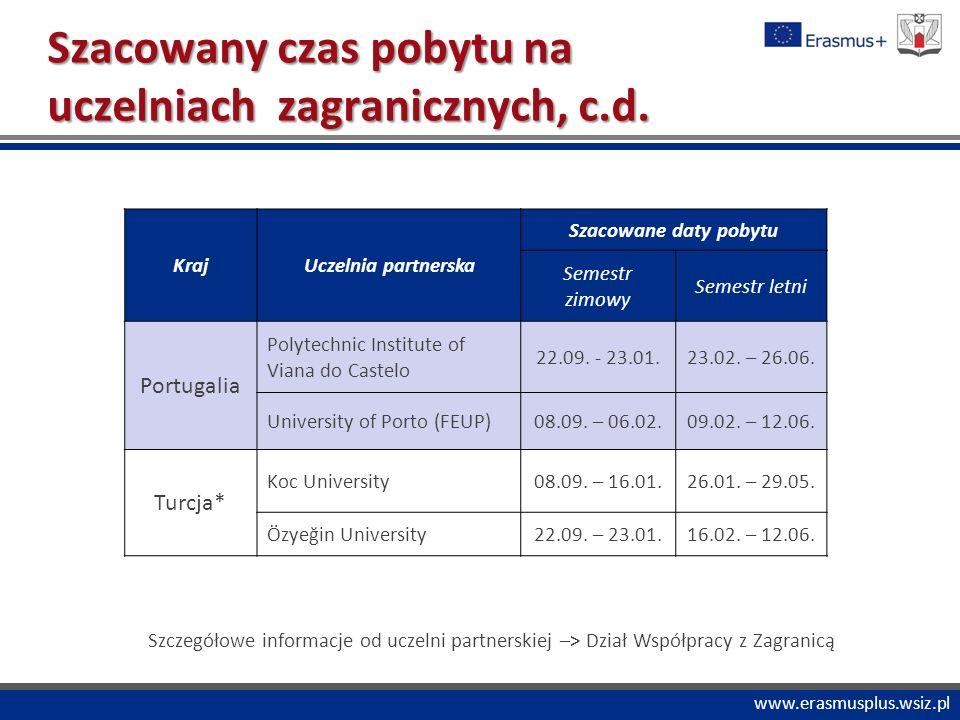 """PROGRAM """"COMENIUS www.erasmusplus.wsiz.pl Wyjazd Erasmusa z tzw."""