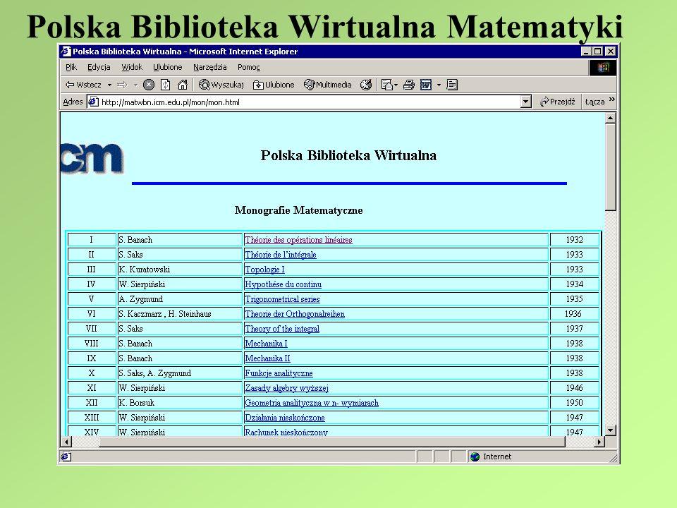 Polska Biblioteka Wirtualna Matematyki