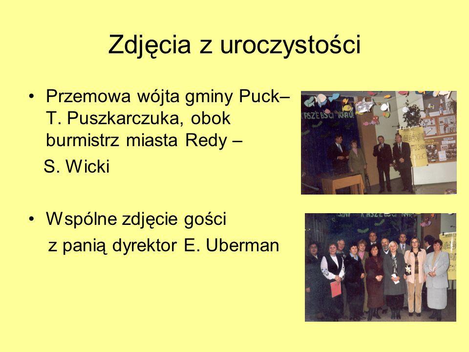 06 XII 2002r.- podpisanie porozumienia o współpracy regionalnej między Gminą Reda a Gminą Puck Porozumienie w obecności wójta gminy Puck i burmistrza Miasta Reda podpisują – p.