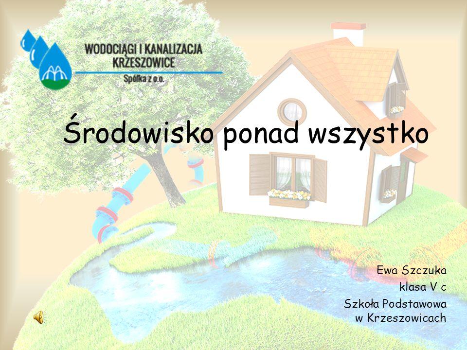 Ewa Szczuka klasa V c Szkoła Podstawowa w Krzeszowicach Środowisko ponad wszystko