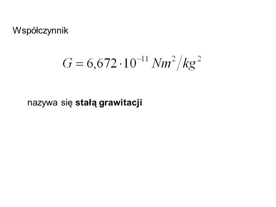 Więc: Podstawiając wartości liczbowe: promień Księżyca R = 1740 km, masę M K = 7.35·10 22 kg i G = 6.67·10 -11 Nm 2 /kg 2, otrzymamy T = 6.5·10 3 s czyli 108 minut.