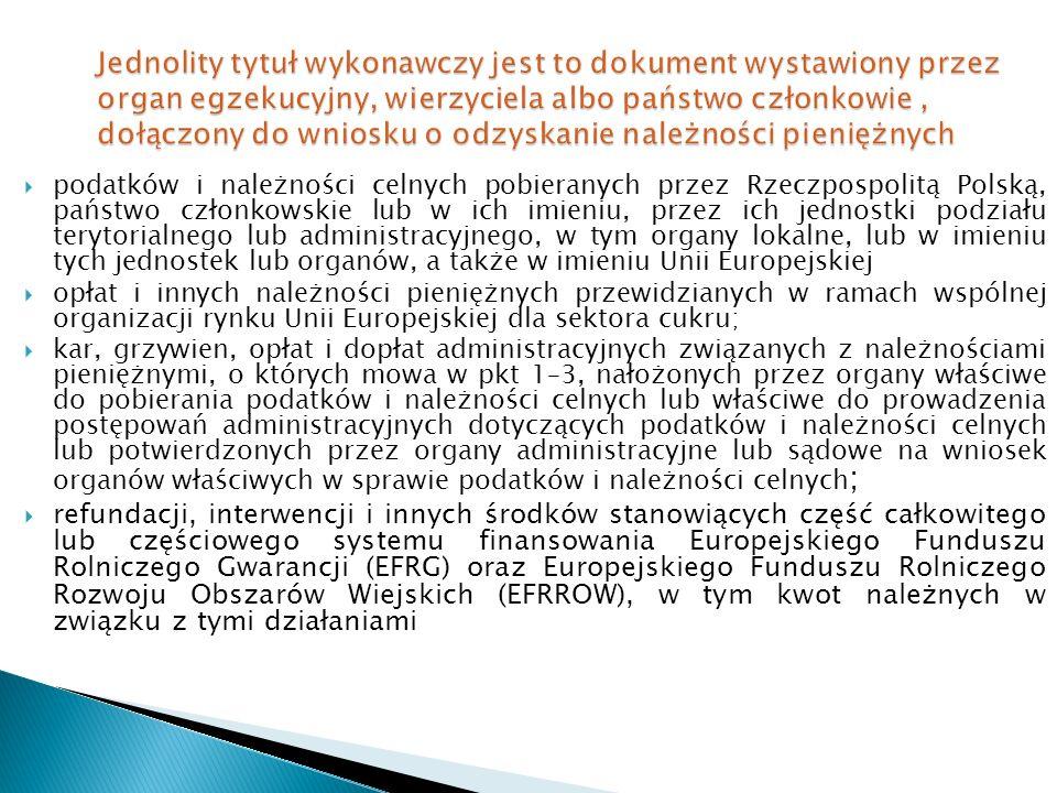  podatków i należności celnych pobieranych przez Rzeczpospolitą Polską, państwo członkowskie lub w ich imieniu, przez ich jednostki podziału terytori
