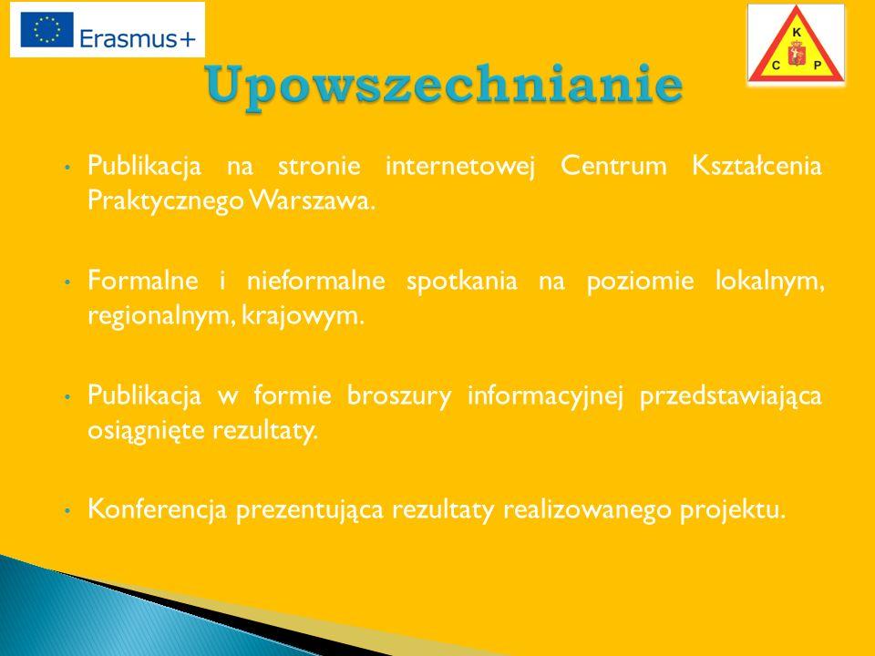 Publikacja na stronie internetowej Centrum Kształcenia Praktycznego Warszawa.