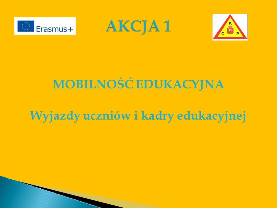 MOBILNOŚĆ EDUKACYJNA Wyjazdy uczniów i kadry edukacyjnej