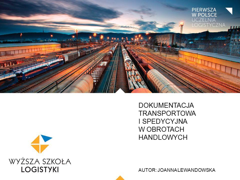 TYTUŁ PREZENTACJI: CZCIONKA ARIAL, WIELKIE LITERY, WYRÓWNANIE DO LEWEJ, KOLOR CZARNY AUTOR: IMIĘ I NAZWISKO FIATA FCT - (Forwarders Certificate of Transport) - spedytorskie zaświadczenie transportowe.