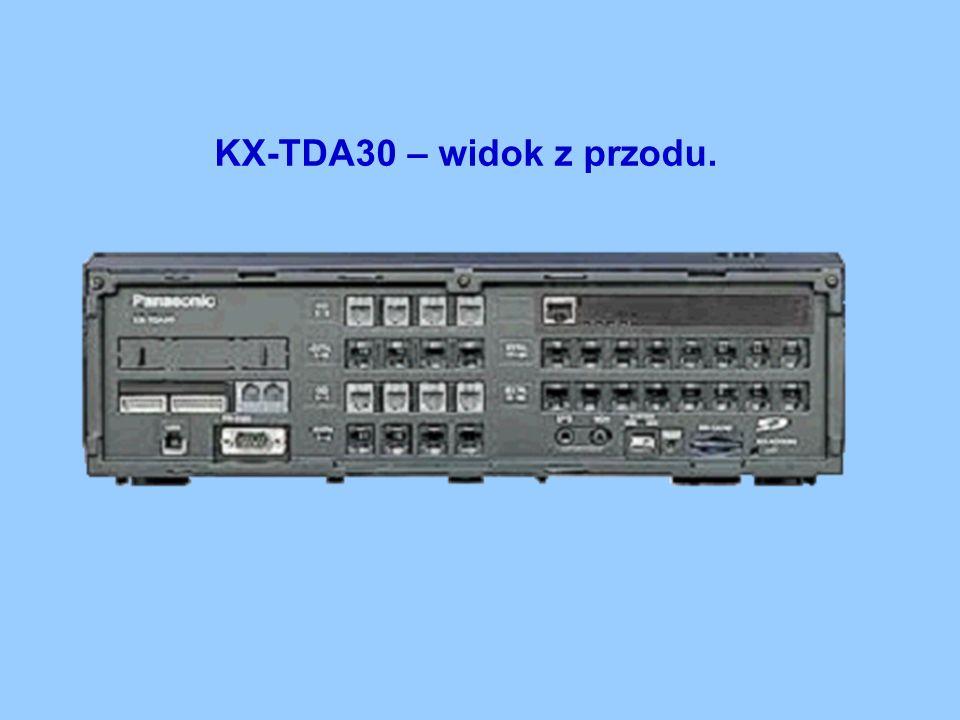 KX-TDA30 – widok z przodu.